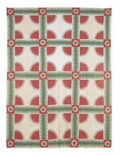 Pieced Rocky Mountain Beauty quilt, late 19th c.