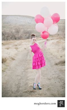 Balloons! Super cute prop to match outfit!  Urban session??