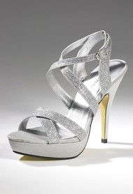 High Heel Glitter Platform Strap Sandal from Camille La Vie and Group USA