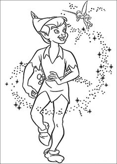 peter pan with tinkerbell coloring page all peter pan coloring pages including this peter pan with tinkerbell coloring page are free - Peter Pan Crocodile Coloring Page