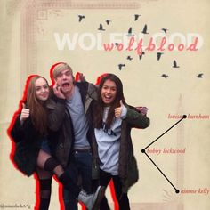 Louisa, Bobby and Aimee!!!! - wolfblood Fan Art