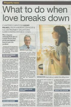 Property Valuations & Divorce - The Leicester Mercury - 08.09.12
