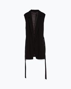 Image 6 of WAISTCOAT WITH BELT from Zara