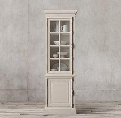 French Casement Single-Door Sideboard & Hutch
