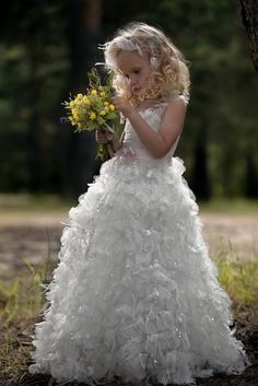 Fairytale-inspired flower girl dress | OneWed.com