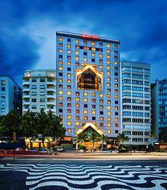 Magnífica vista de la entrada del JW Marriott Hotel Rio de Janeiro
