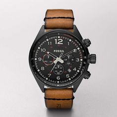 Fossil Flight Leather Watch – Brown  Style #:CH2695