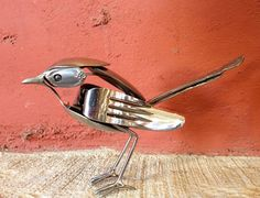 South Carolina sculptor Matt Wilson makes amazing cutlery art. Matt is specialized in sculptures made out of found materials. This series of sculptures are made from recycled forks, knives and spoons, everyday objects everyone has at home. Matt's advice to aspiring upcyclers is to take the time to look at everyday objects from a different perspective and to be original. I see an object somewhere, goodwill, scrap yard and I take it because it's cool or because it was a piece that I was…