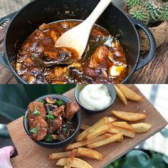 kip in bier gestoofd - Familie over de kook Healthy Slow Cooker, Healthy Crockpot Recipes, Easy Chicken Recipes, Slow Cooker Recipes, Food Design, Vegetarian Recepies, Dutch Recipes, Happy Foods, Comfort Food
