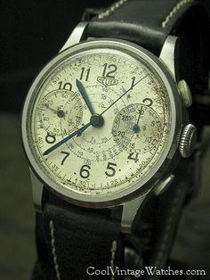 1945 WWII ERA Heuer Chronograph - $1895 #menswristwatch