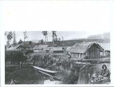 From University of Otago: Asset ID: 18777 Copy negative number: Filename: Sequence: in originals Photographer: Burton bros, photo Nz History, Air New Zealand, Maori Art, Bushcraft, Homeland, Deities, Culture, River, University