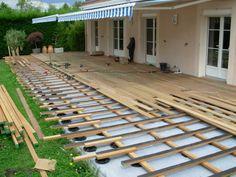 Terrasse bois sur sol dur