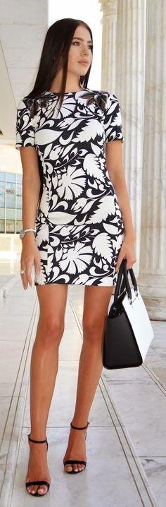 BW Printed Dress