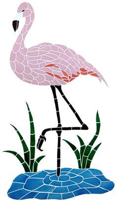 pink flamingo mosaic - Google Search