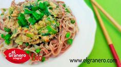 Pasta con salsa carbonara vegana (100% vegetal). Click en la foto para ir a la receta. #vegano #vegan #veganrecipes #recetasveganas #organicrecipes #recetasecologicas #sinhuevo #eggfree #sinleche #dairyfree #veganfood #whatveganseat #comevegano #comeecologico #comebio #elgranerointegral #whatveganscook #vegansofig #organic #food #organicfood #comidaecologica #elgranerointegral #pasta