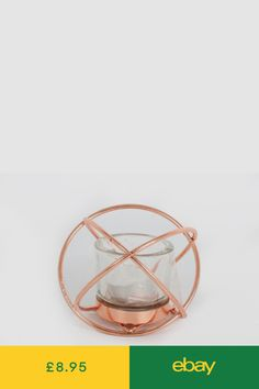 Decorative Ornaments & Figures Home, Furniture & DIY Copper Metal, Glass Candle, Contemporary Decor, Rose Gold, Candles, Ornaments, Modern, Kitchen, Diy