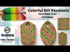 Polymer Clay Pendant, Polymer Clay Art, Clay Tutorials, Psychedelic, Sunglasses Case, Pendants, Handmade, Color, Fimo