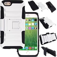 WwWSuppliers Hybrid Shockproof Case for iPhone 6 4.7 inch Belt Clip & Holster Stand Strong Dual Layer Heavy Duty Thin Slim Gel Silicone Rubber Rugged Non Slip Anti-slip Anti-shock Hard Cover + Screen Protector & Stylus (White) WwWSuppliers http://www.amazon.com/dp/B00N2WQP34/ref=cm_sw_r_pi_dp_ECF-vb16N17MD