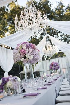 Modern & Romantic Backyard Wedding // Hostess with the Mostess® Lilac Wedding, Wedding Colors, Wedding Flowers, Light Purple Wedding, Wedding Draping, Glamorous Wedding, Elegant Wedding, Wedding Ceremony, Wedding Events