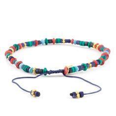 Chan Luu - Blue Mix Bracelet on Limoges Cord, $50.00 (http://www.chanluu.com/mens-bracelets/blue-mix-bracelet-on-limoges-cord/)