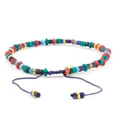Chan Luu - Blue Mix Bracelet on Limoges Cord, $50.00 (http://www.chanluu.com/mens-bracelets/blue-mix-bracelet-on-limoges-cord/)
