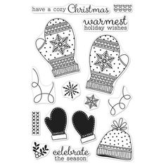 Hero Arts Clear Stamps HOLIDAY MITTENS CL999 Preview Image