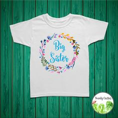 ***Please view the SIZE CHART located in the pictures of the listing. Some sizes can run small/large. This listing is for an adorable Big Sister shirt, onesie or bodysuit. This shirt is great for any occasion, and would especially make a sweet and thoughtful big sister gift or big sister announcement. Made to order using eco-friendly water based ink, giving the design an extremely soft feel while allowing for vibrant, long lasting colors. ***Orders are ready to ship in 3-5 business days…