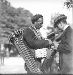 Bosnian Walking Stick Seller Vienna 1900s
