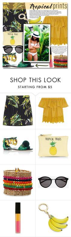 """Tropical Prints"" by anilovic ❤ liked on Polyvore featuring Proenza Schouler, Madewell, Dolce&Gabbana, New Look, Yves Saint Laurent, Le Métier de Beauté, Kate Spade, tropicalprints and hottropics"