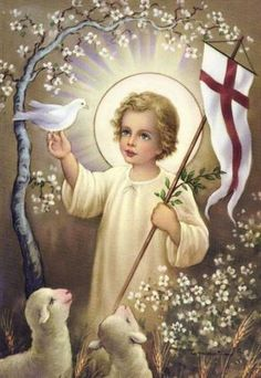 This flag-waving young Jesus apparently displays patriotism for future world empires from an early age.
