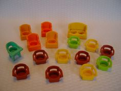 Vintage Fisher Price Accessory Pieces Chairs by GandTVintage