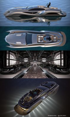 Xhibitionist Superyacht Concept by Gray Designs Superyacht by Gray Design is a Masterful Blend of Style, Purpose and Efficiency. Yacht Design, Boat Design, Bateau Rc, Cool Boats, Small Boats, Casa Bunker, Build Your Own Boat, Yacht Interior, Yachts
