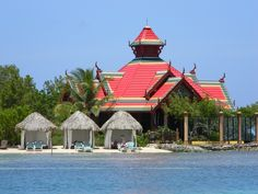 The Thai Restaurant on the private island at Sandals Royal Caribbean