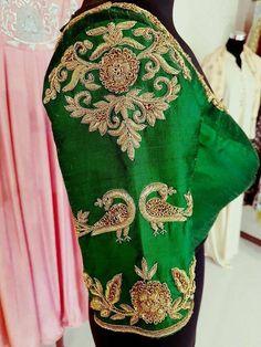 Pattu Saree Blouse Designs, Blouse Designs Silk, Designer Blouse Patterns, Bridal Blouse Designs, Hand Work Blouse Design, Stylish Blouse Design, Zardosi Work, Sarees, Blouses
