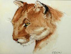 Big Cat Painting  - Big Cat Fine Art Print