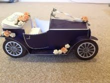 Wedding car made with an Arty Farty template.