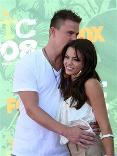 """Channing Tatum sweetly kissed Jenna Dewan-Tatum at the 2008 Teen Choice Awards. It was obvious how smitten he was with the """"Witches of East End"""" actress. Just a little over a month later, he popped the question! Like us on Facebook?"""