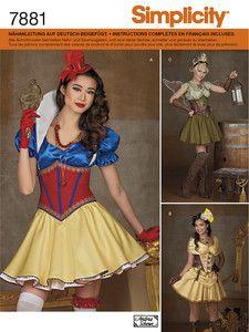 Simplicity: Fasching - Kostüme Damen - z.B. Schneewittchen, Fee Steampunk, historischanmutendes Kleidchen