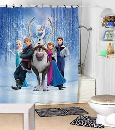 Disney Frozen Shower Curtains Adorabel Bathroom And By Lucyilove21