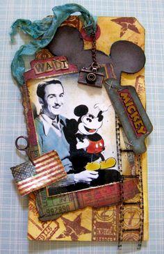 Two of my favorite things -- Disney and Distress tags.  I love Barbara's ode to Walt.  Found at Yaya Scrap & More http://yayascrap.blogspot.com/2013/01/happy-new-year-e-i-miei-preferiti-del.html#