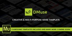 dMuse - 9-in-1 Unique Multipurpose Template . Designing Media presents dMuse Template pack which is built with Adobe Muse. It contatins 9 awesome Templates of different categories and many more comming soon. It is a fully responsive so it works with all devices including (desktop, tablet and mobile). All you need to put your content/images for