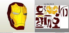 Papercraft .pdo file template for Iron Man - Mark 45 Full Armor +FOAM+.