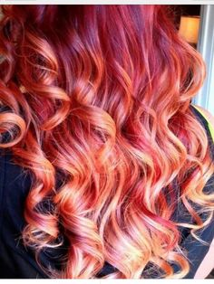 Fire Ombre Hair By Courtney Good. #inspo #redhot #findyourspark #sparkscolor #fire #ombre