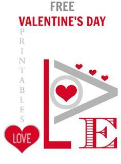 FREE VALENTINE'S DAY PRINTABLES -@placeofmytaste.com