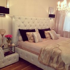 Love The Boudoir Glam Especially The Nightstand From Ig Angelalovisa Feminine Bedroomroom Decorboudoirnightstandbedroom