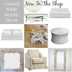 White Coastal beach house decor ideas from Our Boat House: http://www.ourboathouse.com/blog/new-in-the-shop-coastal-white-beach-house-decor/