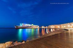 #greece #Rhodes Bay by night!