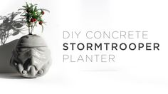 DIY Conrete Stormtrooper Planter