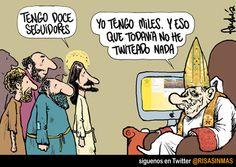 Los seguidores del Papa en Twitter.