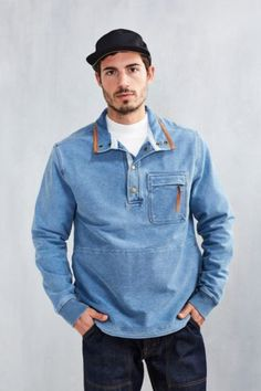 Without Walls Denim Terry Sweatshirt - Urban Outfitters